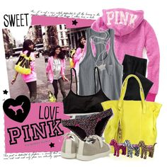 """Pretty in PINK"" by flora on Polyvore"