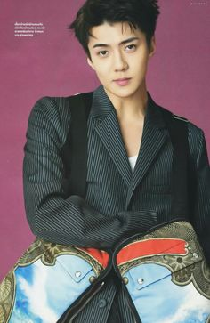 Sehun EXO  In a magazine photo shoot L'Optimum #FANDOM #KPOP #EXO #SEHUN #THAILAND #MAGAZINE