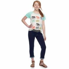 SO® knit denim capris for girls 7-16
