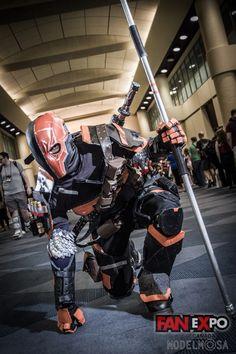 Character: Deathstroke (Slade Wilson) / From: Warner Bros. Interactive Entertainment's 'Batman: Arkham Origins' Video Game / Cosplayer: Unknown