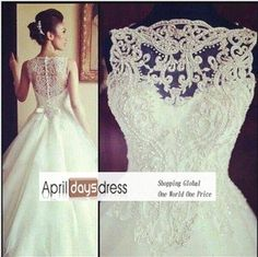 WD COSTUM MADE 2013 New Arrival Amazing Sleeveless Crystal Ball Gowns  Wedding Dresses € 149 f75cdc43f5