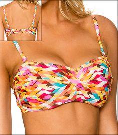 s Calzedonia señora bikini set Triangle Soft Cup rojo traje de baño tamaño