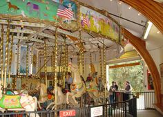 You'll find a carousel to ride in the park.