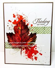 Stamping with Julie Gearinger: Vintage Leaves- Thinking of You