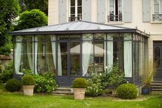 Photo: Victorian veranda with zinc roof Gazebo, Deck With Pergola, Cheap Pergola, Garden Deco, Backyard Pavilion, Backyard Landscaping, Pavillion, Conservatory Garden, Marquise