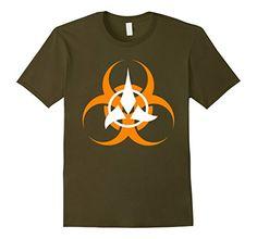 braincolor: Klingon Biohazard Science Sign T-Shirt #startrek