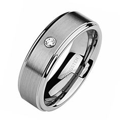 Matching Wedding Band Set, His & Her Tungsten Rings, Titanium Color, Brush Matted Finish - value jewelry coupon products Matching Wedding Band Sets, Wedding Bands For Her, Wedding Matches, Perfect Wedding, Elegant Wedding, Tungsten Jewelry, Tungsten Mens Rings, Tungsten Wedding Bands, Tungsten Carbide