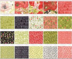 Poppy Mae Jelly Roll by Robin Pickens for Moda Fabrics  48600JR  Each jelly roll includes 40 strips, measuring 2.5 X 44. There are 20 different prints in this collection. Some prints will have duplicates.  Our Price - $32.00  Retail Price - $39.00  Follow us on Facebook: Three Oaks Fabric Company