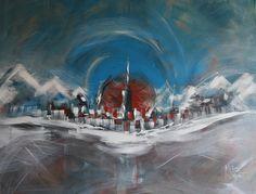 """100x80cm Acrylics - """"Urban Vibes #10 - Blizzard"""""""