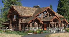 The Woodhaven Handcrafted Log Home design was introduced in 2005. This Western Log & Timber style home features stone accents and copper windows as well as an entry window with custom log cross-bracing. http://www.logcabindirectory.com/loghome_floorplans/precisioncraft/Woodhaven.htm