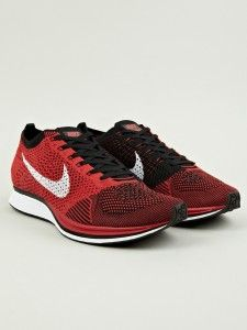 best authentic ba7af 5b289 Nike Flyknit Racers in red