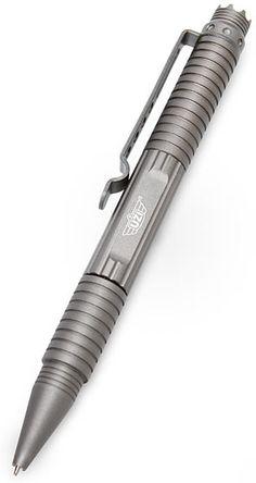 Uzi tactical pen.  Part pen, part weapon.  All metal.