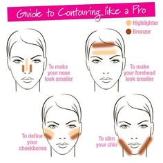 Want to showcase your best facial features? Try these contouring techniques for your going-out look tonight! #beauty