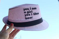 Yes I am a Girl Hasır Şapka