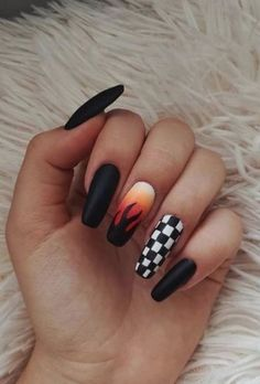 Acrylic Nails Coffin Short, Simple Acrylic Nails, Summer Acrylic Nails, Best Acrylic Nails, Acrylic Nail Designs, Summer Nails, Coffin Nails, Spring Nails, Edgy Nails