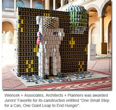 Earlier this month, Canstruction D.C. closed out its most bountiful year to date by collecting 56,578 pounds of food and raising $8517 for feed families in need. Thanks to Safeway, AIA|DC, and all the participants and sponsors for making this happen.