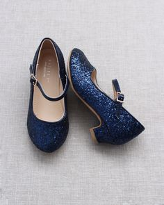 Flower Girl Shoes, Girls Shoes, Flower Girls, Glitter Heels, Blue Glitter, Princess Shoes, Wedding Shoes, Wedding Dresses, Shoe Collection