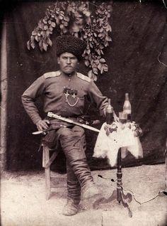 Георгиевский кавалер, терский казак М. А. Белоусов.