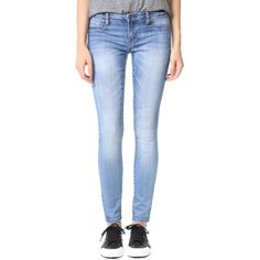 Blank Denim Skinny Jeans (2,885 INR) ❤ liked on Polyvore featuring jeans, light weight jeans, faded skinny jeans, blue jeans, denim skinny jeans and skinny jeans