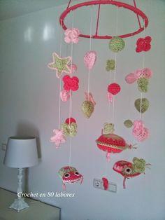 Crochet en 80 labores: Patrón para un móvil para la habitación del bebé