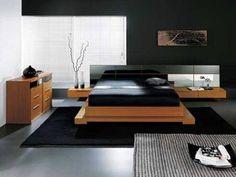 zen styling in a masculine bedroom