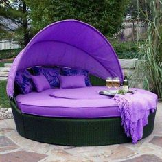 3 Fortunate Cool Ideas: Boho Home Decor Bedroom modern home decor wall.Funky Home Decor Website western home decor living room.Vintage Home Decor Floral. Purple Love, All Things Purple, Shades Of Purple, Purple Stuff, Purple Furniture, Purple Rooms, Color Lila, Boho Home, Purple Reign