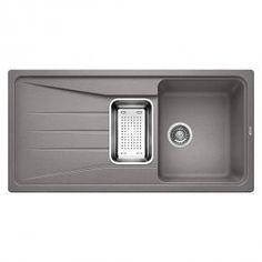 Blanco Sona 6 S drehbare Spüle B: 100 T: 50 cm Becken SILGRANIT®PuraDur® II alumetallic