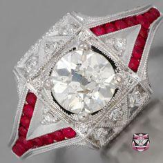 Art Deco Engagement Ring - 1.20ct J/SI Diamond