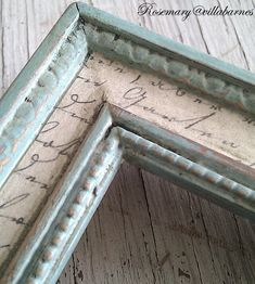 frame with decoupage and distressed paint French Decor, French Country Decorating, French Country Crafts, French Country Fabric, French Country Wall Decor, Country Style, Marco Diy, Decoration Hall, Picture Frame Crafts