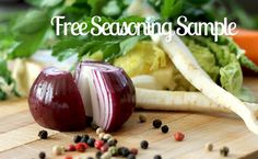 Give your cooking some extra zip with a FREE seasoning sample!