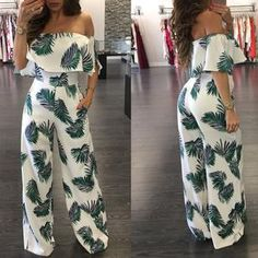 Palm Leaf Jumpsuit