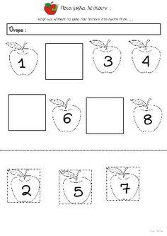 Φύλλα εργασίας για το φθινόπωρο (της Ειρήνης Βαλμά) Maths, Diagram, School