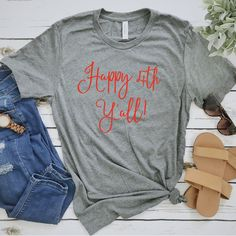Excited to share the latest addition to my shop: Of July Women Unisex T-Shirt, Fourth Of July, Happy Y'all, Southern Of July Shirt, USA Patriotic America T-shirt Avocado Shirt, Graphic Tees, Graphic Sweatshirt, Patriotic Shirts, Fashion For Women Over 40, Cat Shirts, Summer Shirts, Funny Tees, Shirts With Sayings