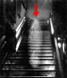"One of the most famous ""ghost"" photograph. It was taken in 1936 at Raynham Hall in Norfolk England and still today cannot be explained. The photogenic ghost is thought to be that of Dorothy Townshend who lived in Raynham Hall in the 1700's. Legend has it that Dorothy was a mistress to Lord Wharton and her husband found out about it. She was imprisoned in a remote section of the Hall until she died. Legal records show she died in 1726."