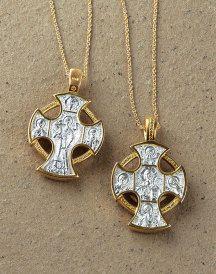 Virgin Mary Pendant Our Lady of Knock handcrafted original artisan Catholic saint pendant