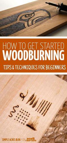 Woodburning Tips & Techniques for Beginners - DIY - Basteln & selber machen - Holz Ideen Wood Burning Tips, Wood Burning Crafts, Wood Burning Patterns, Wood Burning Techniques, Wood Burning Projects, Wood Burning Stencils, Best Wood For Burning, Art Techniques, Pot Mason Diy