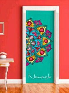 DIY doors with super cool mandalas Deco Cool, Deco Boheme, Painted Doors, Mandala Art, Wall Murals, Mural Art, Painted Furniture, Bedroom Furniture, Pipe Furniture