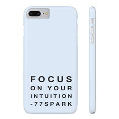 """""""Focus on your intuition"""" Slim Phone Cases ($30) ❤ liked on Polyvore featuring accessories and tech accessories"""