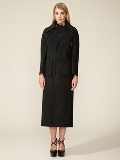 Raw Edge Wool Overcoat  PaletteWomen #Outerwear