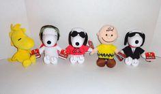 New Peanuts Movie Snoopy Plush Charlie Brown Woodstock set. #peanutsmovie #toys