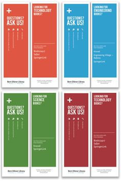 Clean, easy to read: Bern Dibner Library Bookmarks