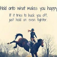 Happiness and horses quote