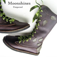 Hand Made Leather Boots for Women MOONSHINE by Fairysteps on Etsy, £ 295.00