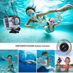 DBPOWER® EX5000 Originale Versione WIFI 14MP FHD Sport Action Camera Impermeabile con 2 batterie e kit accessory inclusi (Bianco): Amazon.it: Elettronica