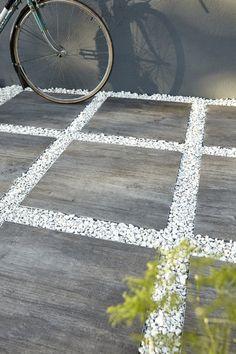 dalle galet allée gravier pas japonais dalle grise décoratif blanc ...