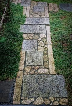 Stone Garden Paths, Garden Paving, Garden Stones, Japanese Garden Landscape, Japanese Garden Design, Landscape Architecture, Landscape Design, Front Yard Design, Land Scape
