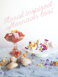 These flower tea cakes are perfect for your next brunch!