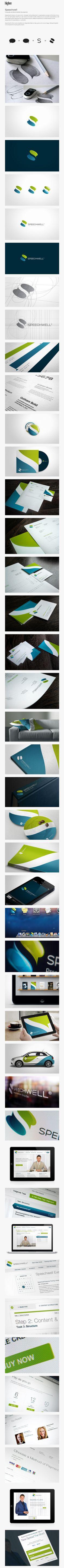 Speechwell | #stationary #corporate #design #corporatedesign #identity #branding #marketing < repinned by www.BlickeDeeler.de | Take a look at www.LogoGestaltung-Hamburg.de