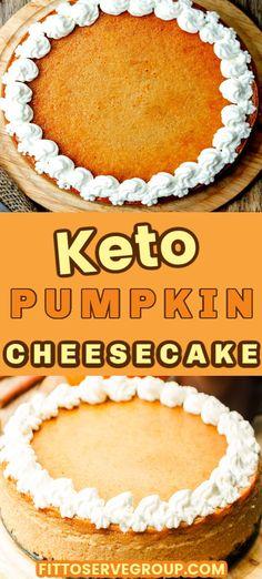Pumpkin Recipes Keto, Low Carb Pumpkin Cheesecake, Low Carb Pumpkin Pie, Keto Cheesecake, Low Carb Sweets, Low Carb Desserts, Low Carb Recipes, Keto Holiday, Keto Cake