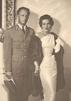King Leopold III of the Belgians with his second wife, Princess Lilian of Belgium, Princess de Rethy.